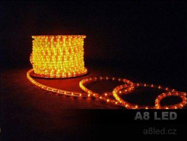 LED had oranžový 100m 24 diod/m s efektem