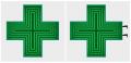 LED lékárenský kříž mono