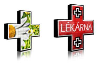 LED lékárenský kříž plnobarevný