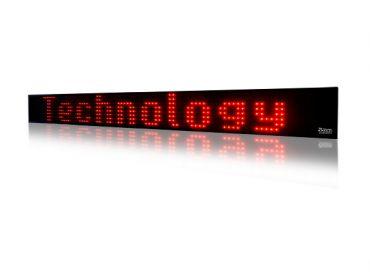 LED textový panel 25cm